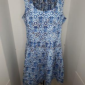 Calvin Klein blue floral dress